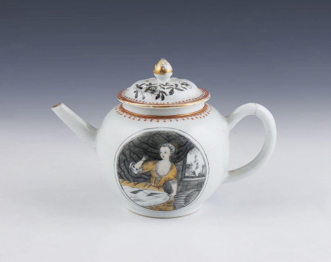 Bule em porcelana chinesa CI