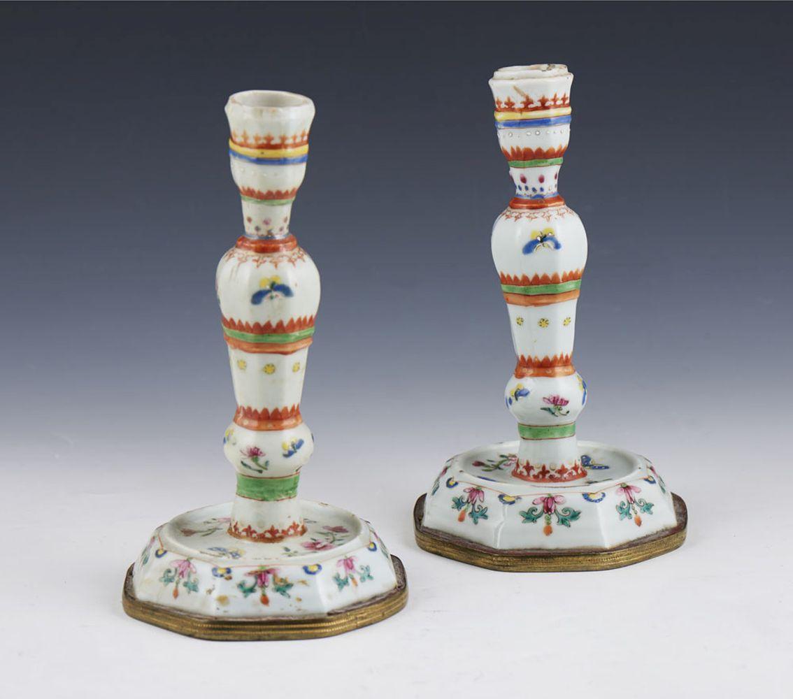 Par de castiçais em porcelana chinesa (2)