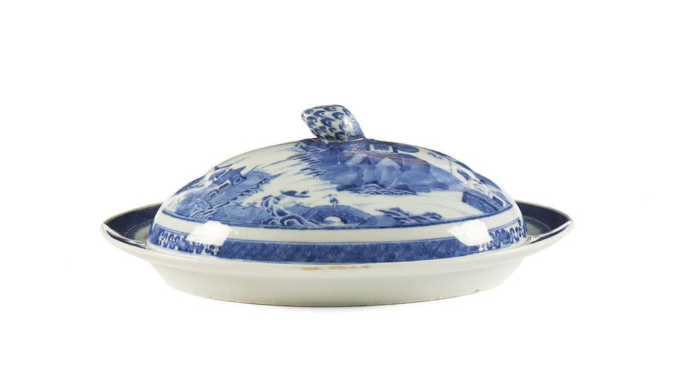 Prato coberto em porcelana chinesa da CI