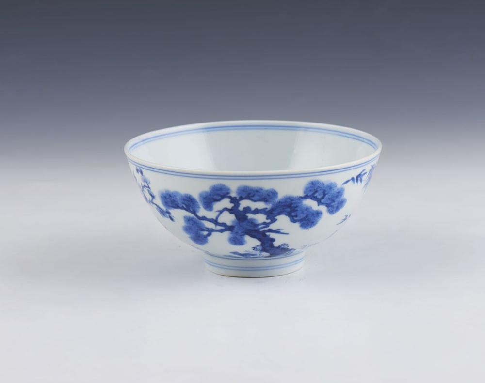 Taça em porcelana chinesa