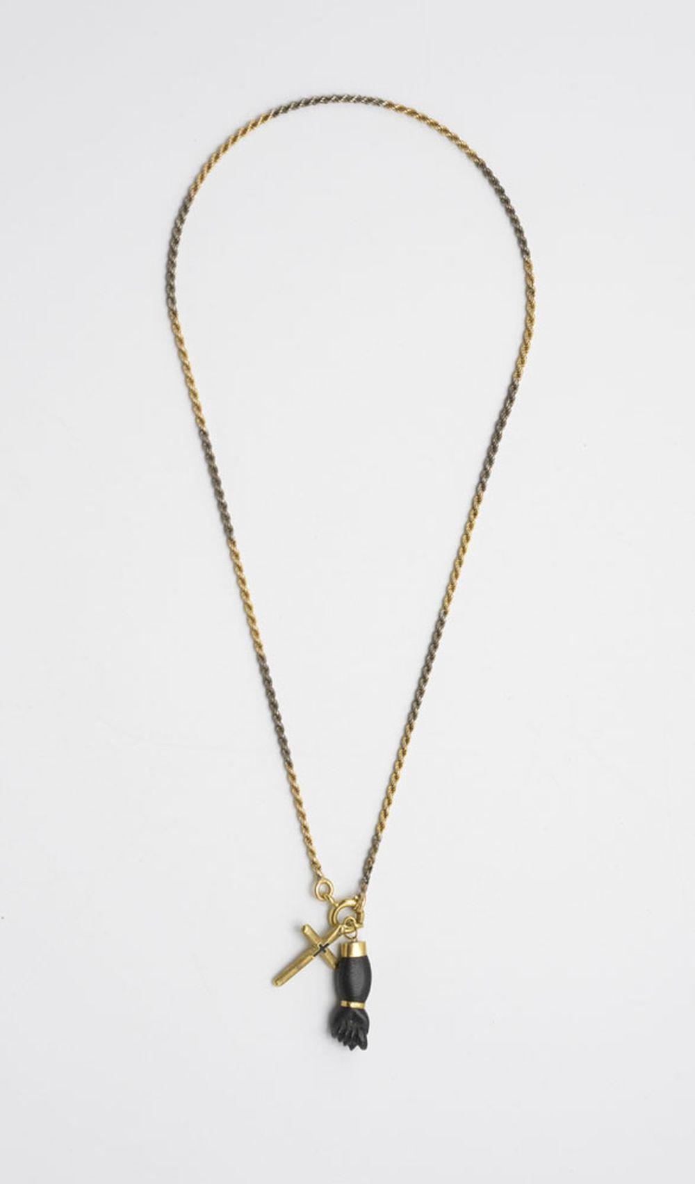 Fio em ouro bicolor, P: 15,5 g.