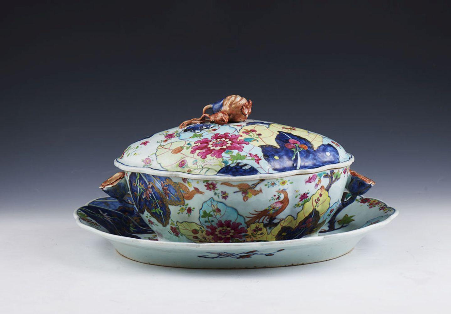 Terrina e travessa em porcelana chinesa (2)