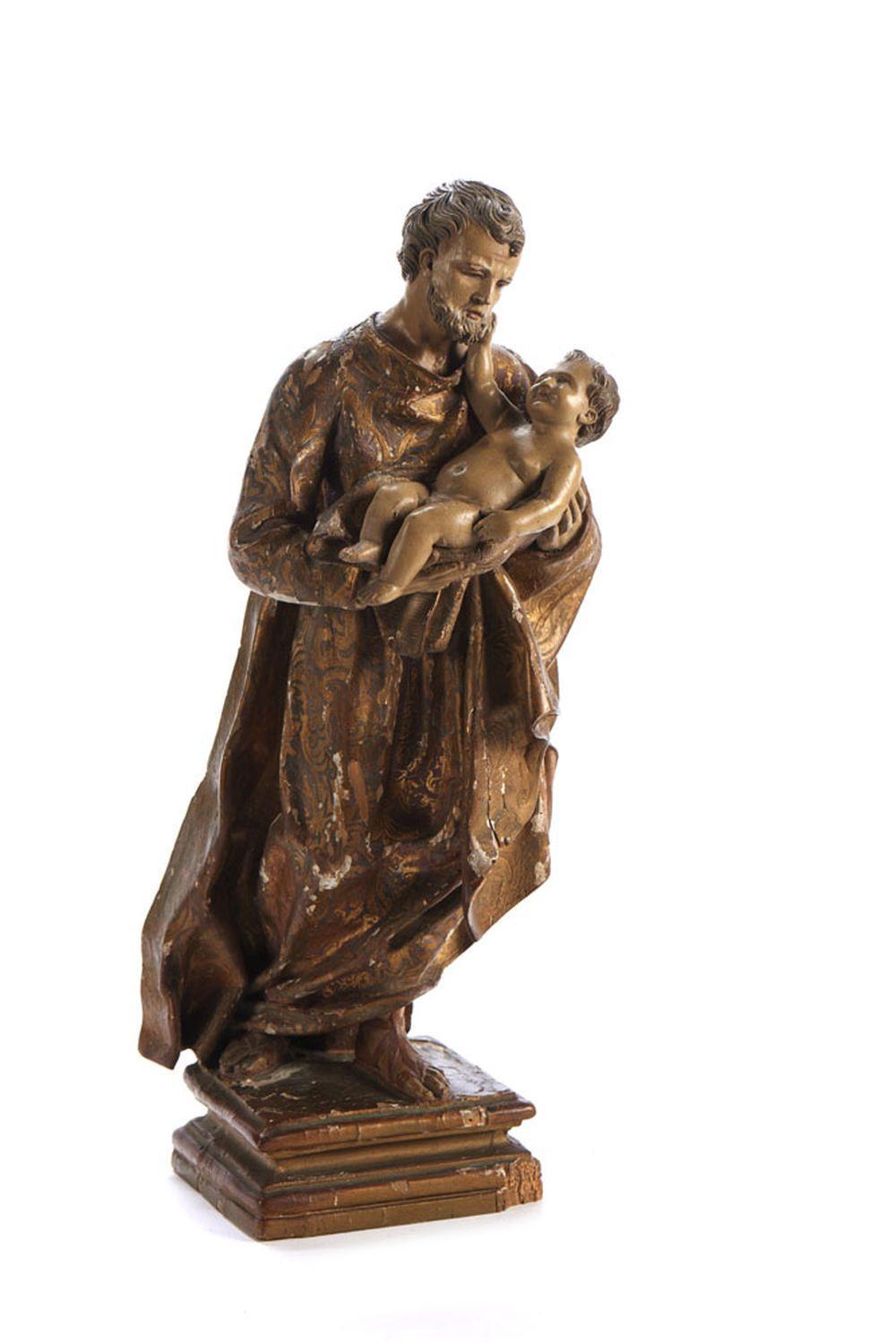 S. José c/Menino Jesus, Esc. em madeira
