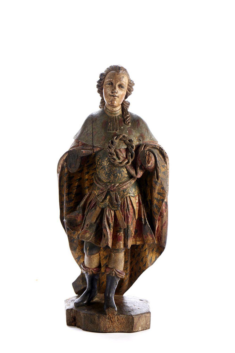 São Luís, rei de França, escultura do séc. XVIII