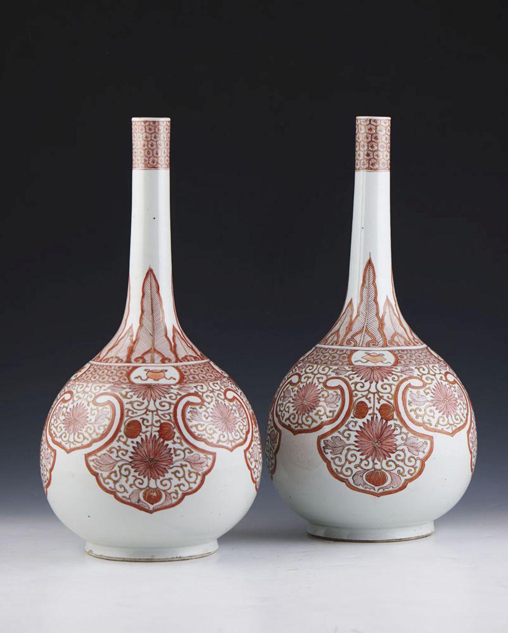 Par de jarras em porcelana, Kangxi (2)
