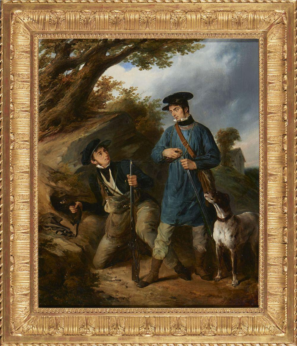 Alexandre M. Colin, Óleo sobre tela, 73 x 60 cm.