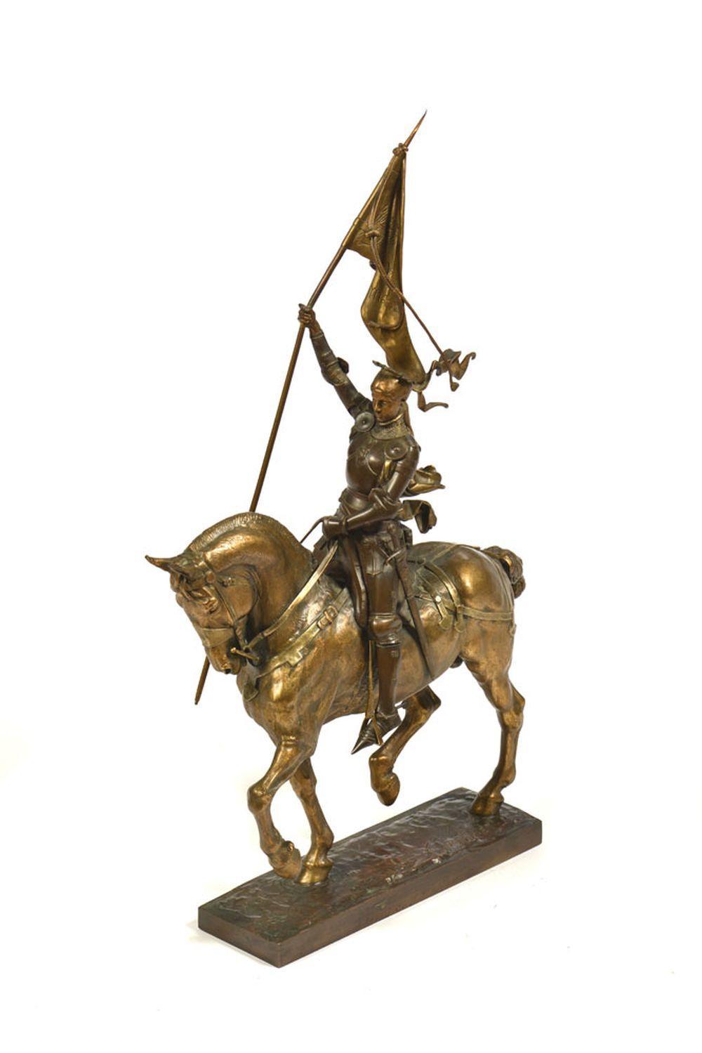 Joana D'Arc, escultura em bronze