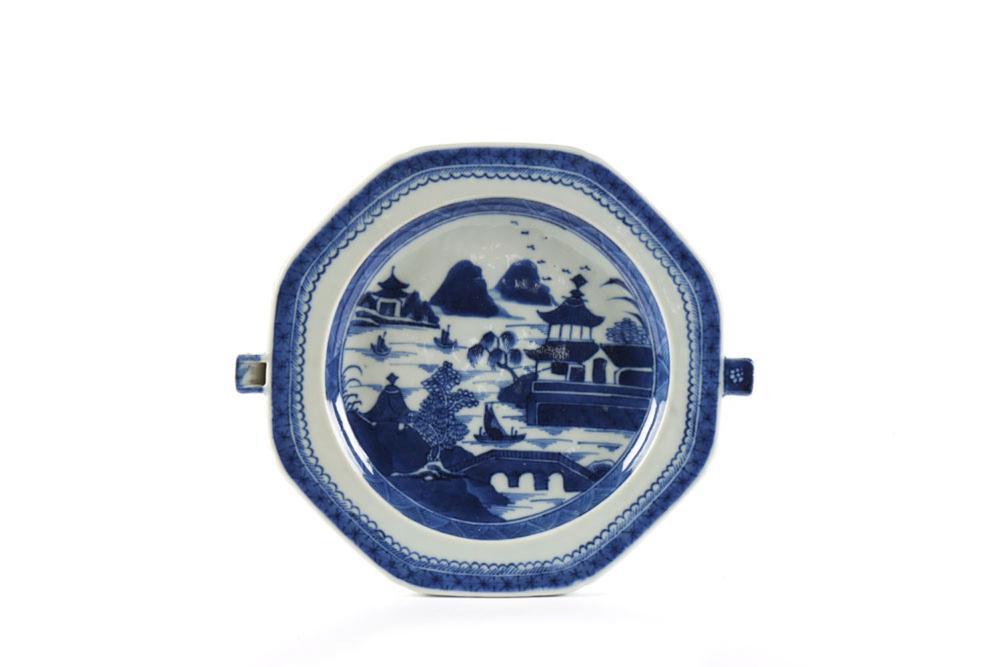 """Prato """"rechaud"""" em porcelana chinesa"""