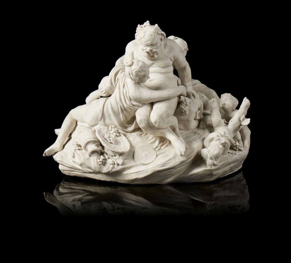 Fauno, figuras femininas e crianças, escultura
