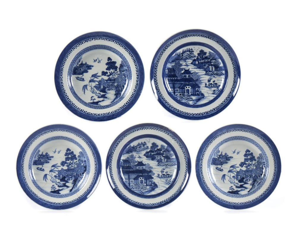Conj. 5 pratos de sopa em porcelana chinesa (5)