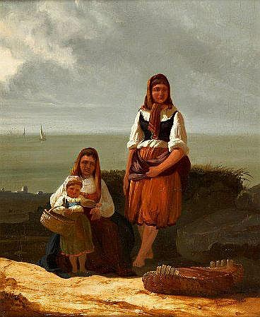 Tomás da Anunciação, 'Varinas com criança'35 x 29