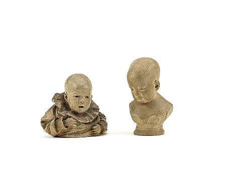 Teixeira Lopes, 2 esc. representando bébés
