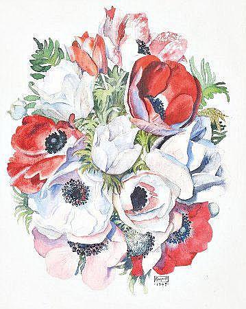 Raquel Roque Gameiro; Flores; Dim.: 21 x 17 cm.