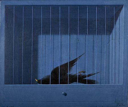 Eduardo Luís,'L'oiseau mort', 38 x 46 cm. EDUARDO