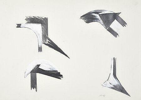Joaquim Bravo, Desenho s/papel,Dim.: 50 x 70 cm.