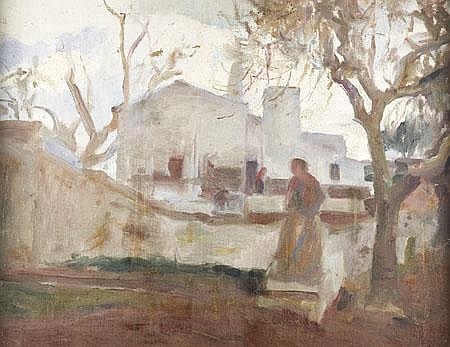 Sousa Lopes, Castelo de Vide, Óleo s/tela,45x58,5c