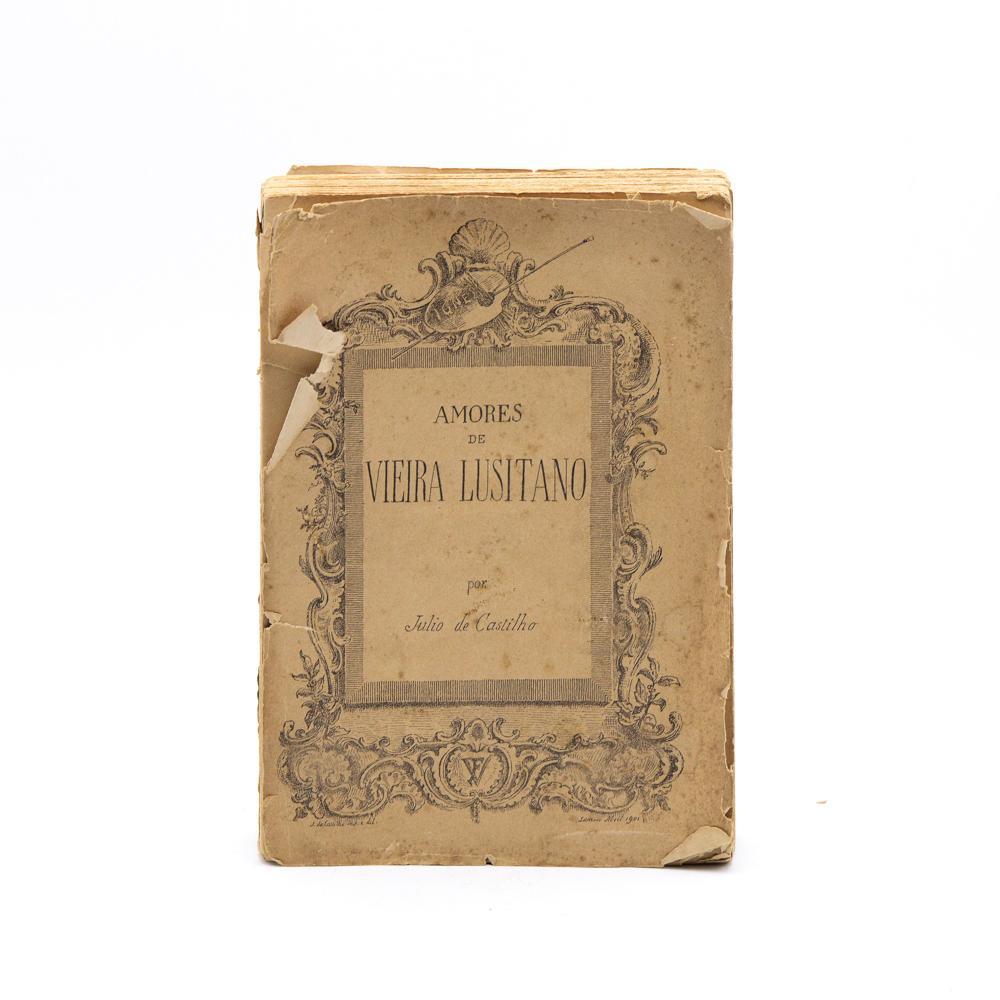 CASTILHO. AMORES DE VIEIRA LUSITANO. 1 vol. br.