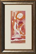 VESPEIRA, Guache s/ papel, 41 x 20 cm