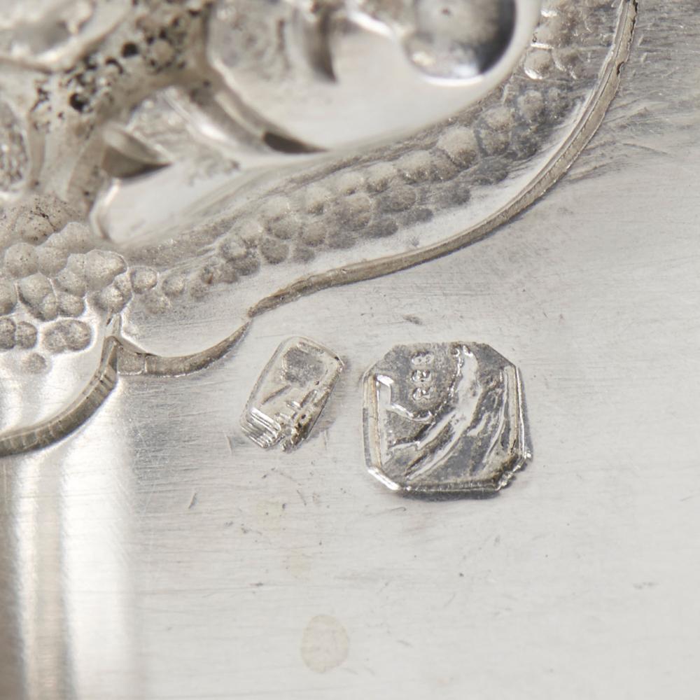 Molheira com travessa em prata 833%, P. 664 g.
