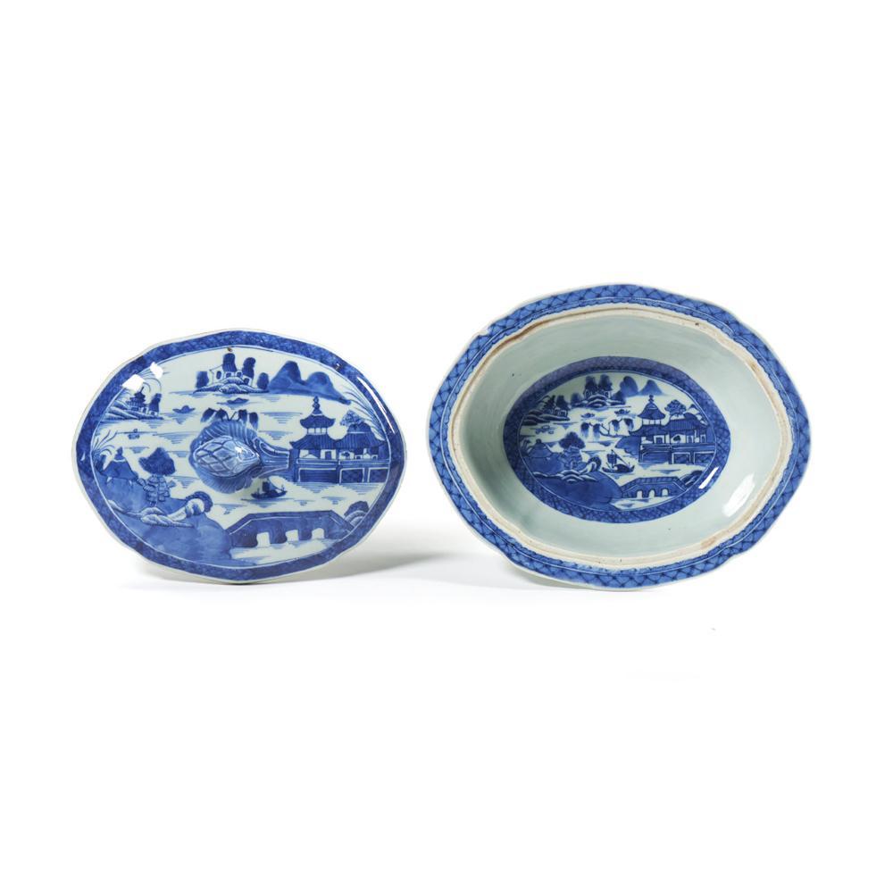 Par de pratos cobertos elípticos (2)