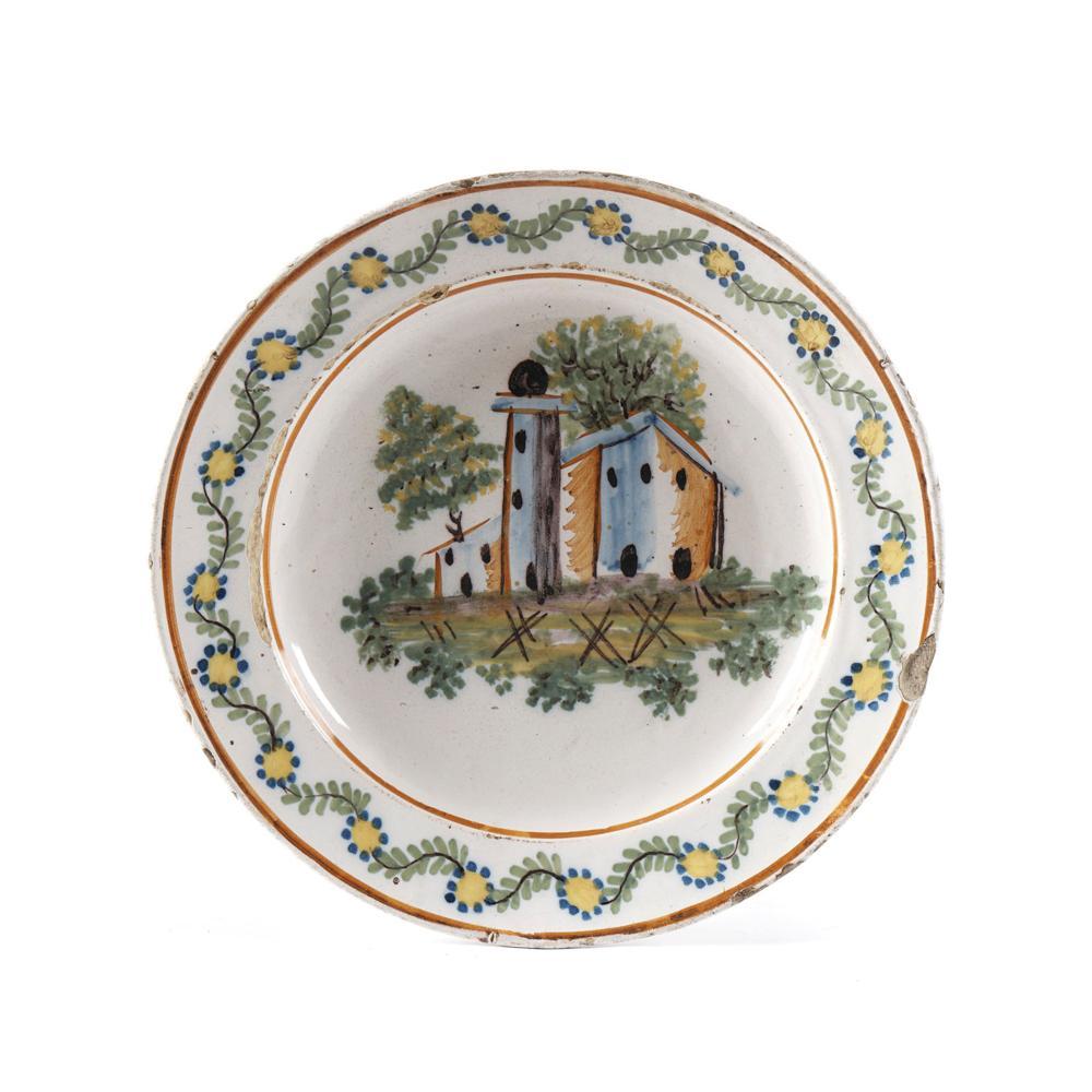Prato em faiança portuguesa, séc. XIX