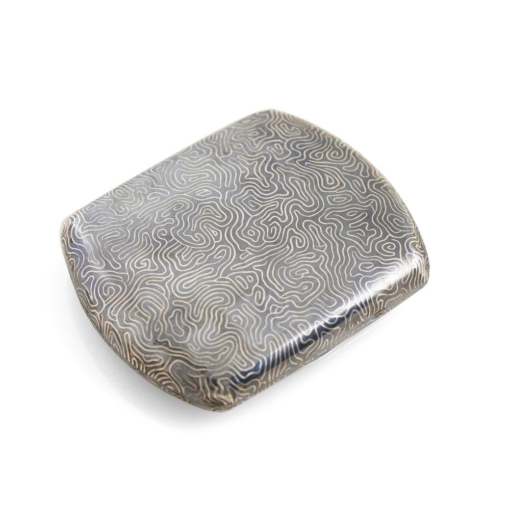 Cigarreira em prata estrangeira, P. 122 g.