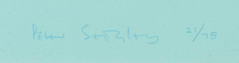 Peter Sedgley, serigrafia s/papel, 49x49 cm