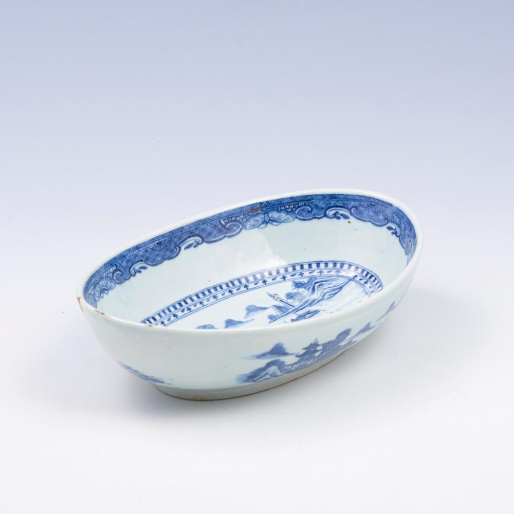 Taça elíptica em porcelana chinesa CI