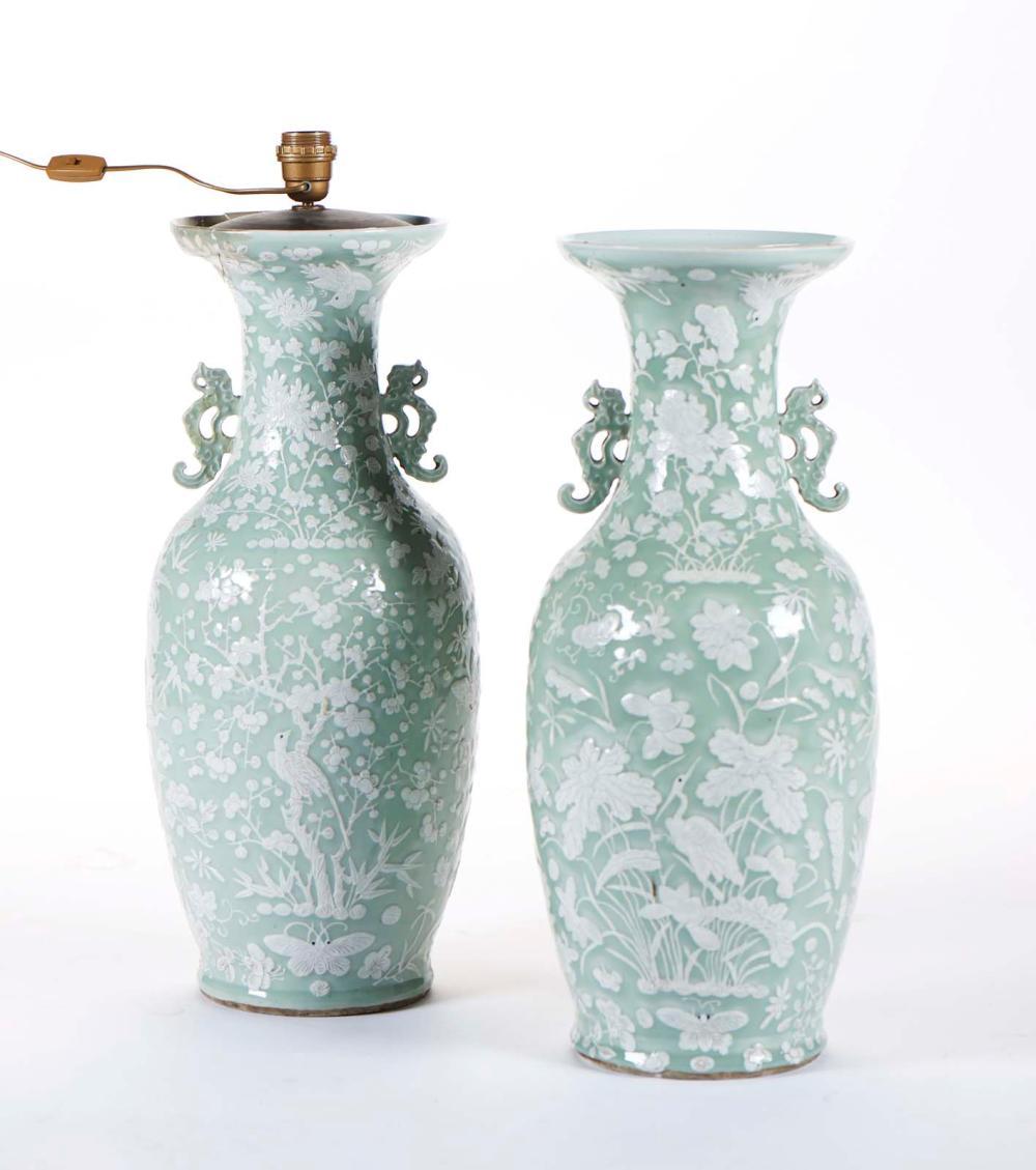 Par de jarras em porcelana chinesa (2)