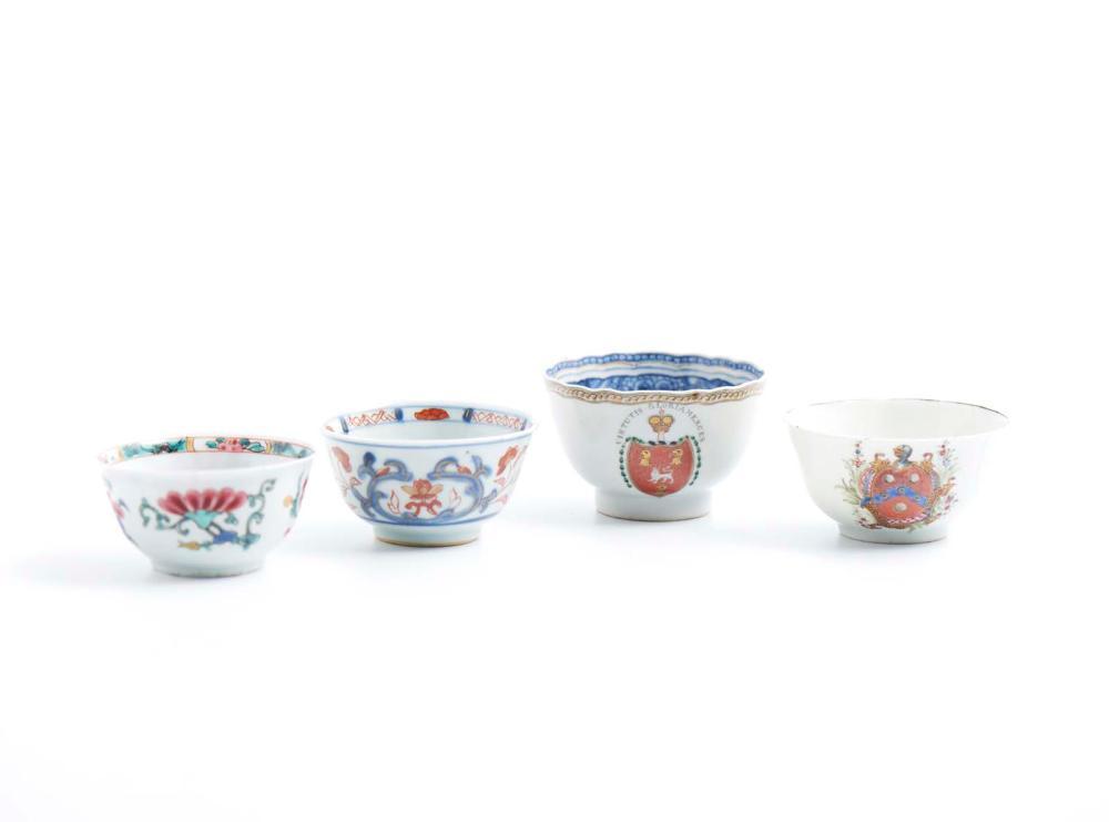 Conjunto de quatro taças em porcelana CI (4)