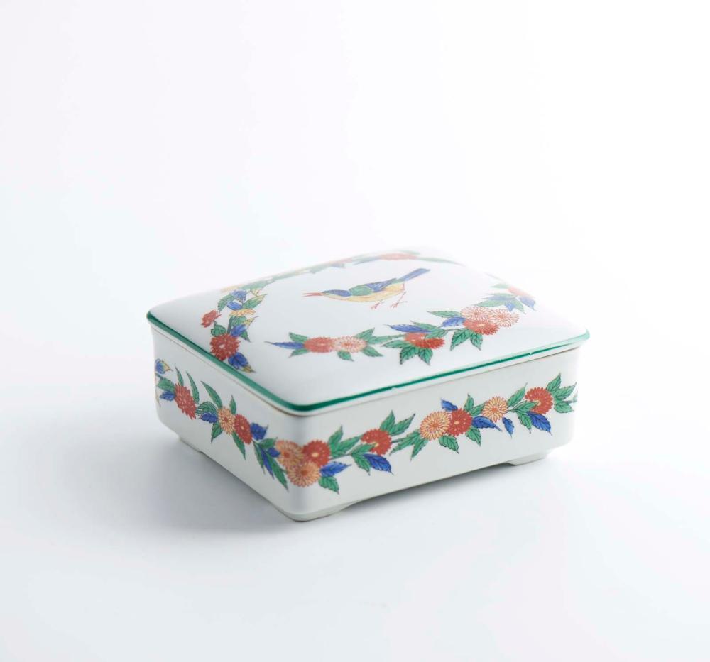 Caixa com tampa em porcelana da Vista Alegre
