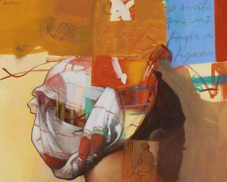 OLIVEIRA TAVARES, Óleo sobre tela, 81 x 100 cm.