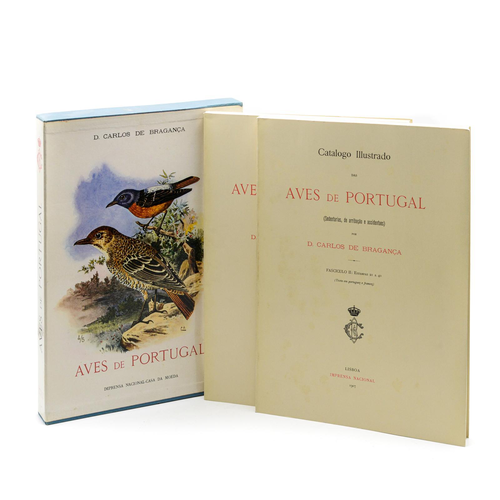 CATALOGO ILLUSTRADO DAS AVES DE PORTUGAL, 2 vols.