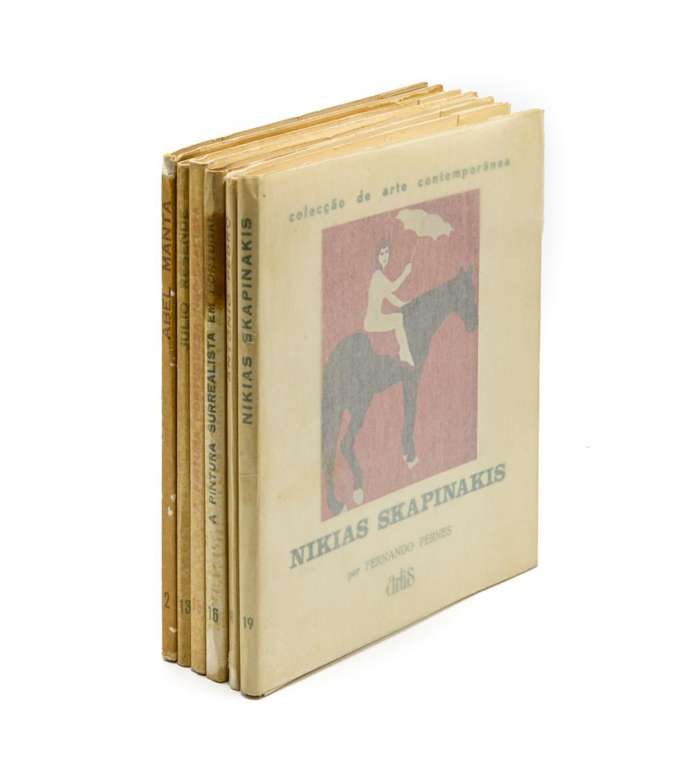 COLECÇÃO DE ARTE CONTEMPORÂNEA. Lote de 6 vols.