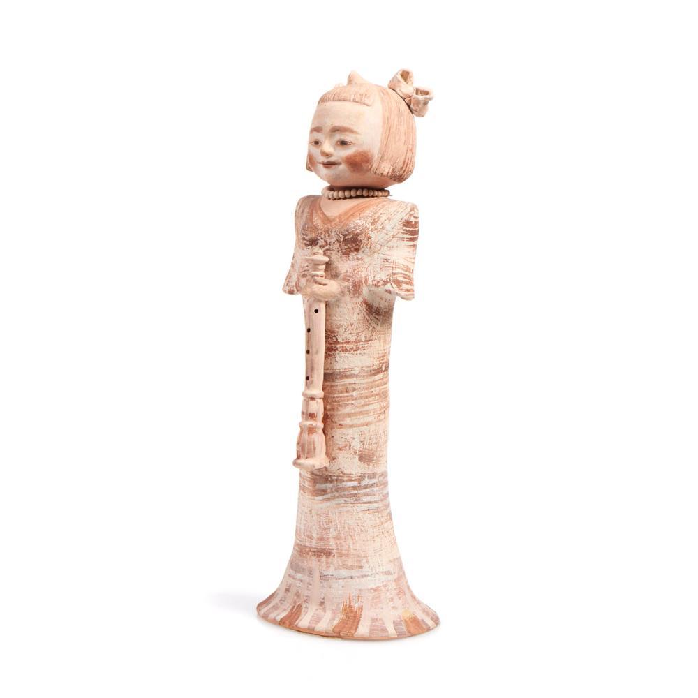 Figura feminina, escultura em barro