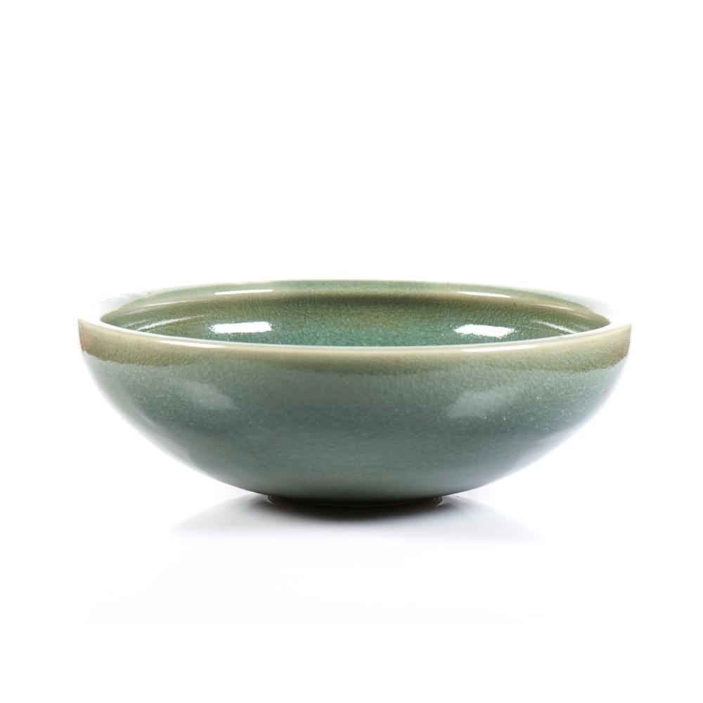 Taça em cerâmica em tons de verde