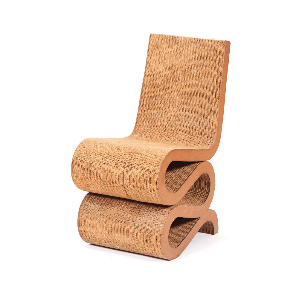 """GEHRY, """"Wiggle Side Chair"""", Cadeira em cartão"""