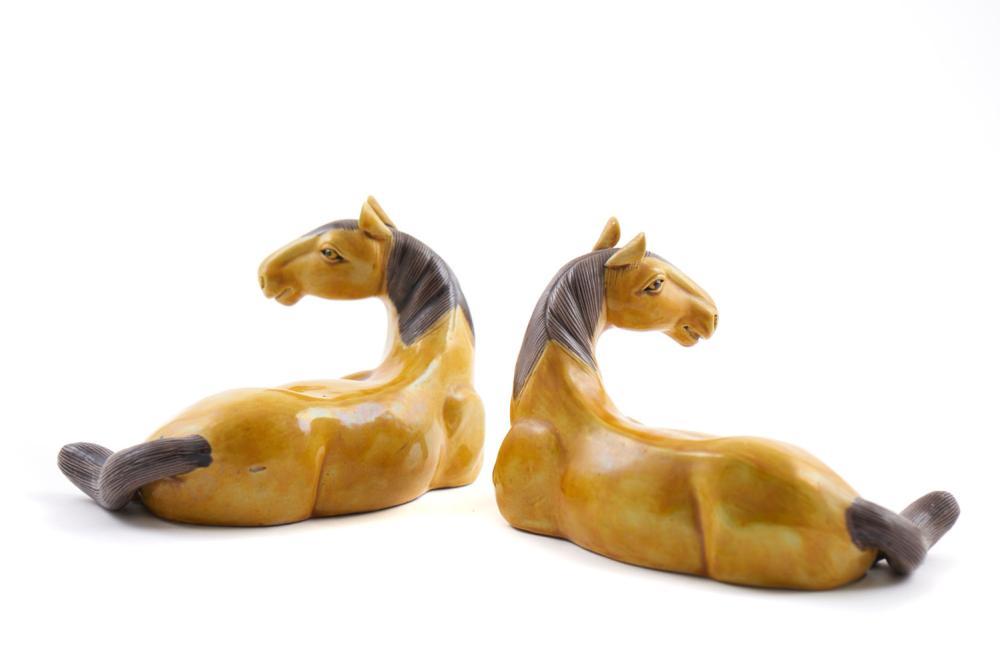 Par de cavalos em porcelana chinesa (2)