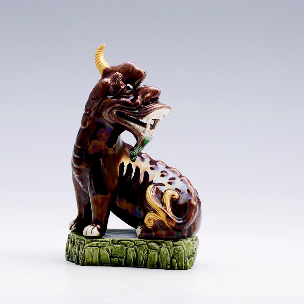 Par de cães de fóo em cerâmica (2)