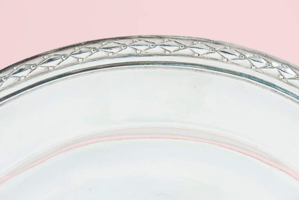Prato de servir, prata francesa, séc.XVIII, P.978g