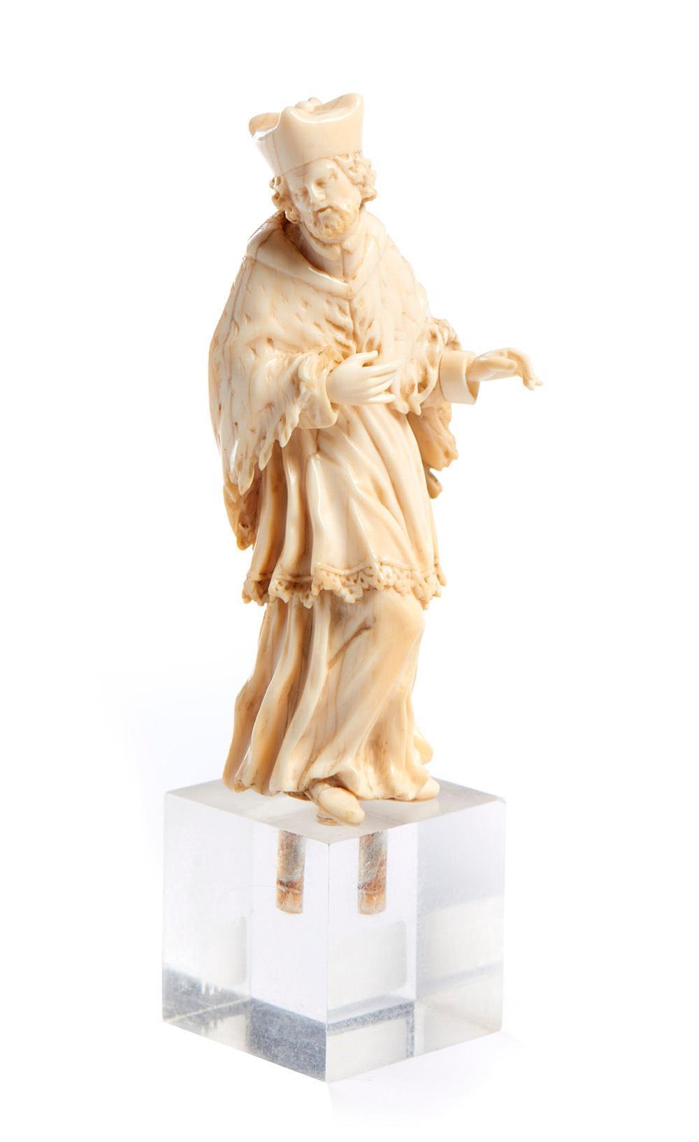Sto Inácio de Loyola, Esc. séc. XVIII, marfim