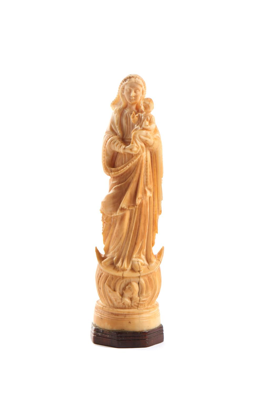 Nª Srª da Conceição e Menino Jesus, marfim, XIX