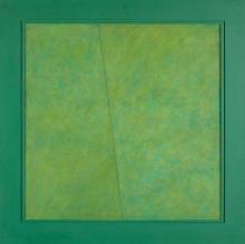 ÂNGELO DE SOUSA, óleo s/tela, 79x79 cm.