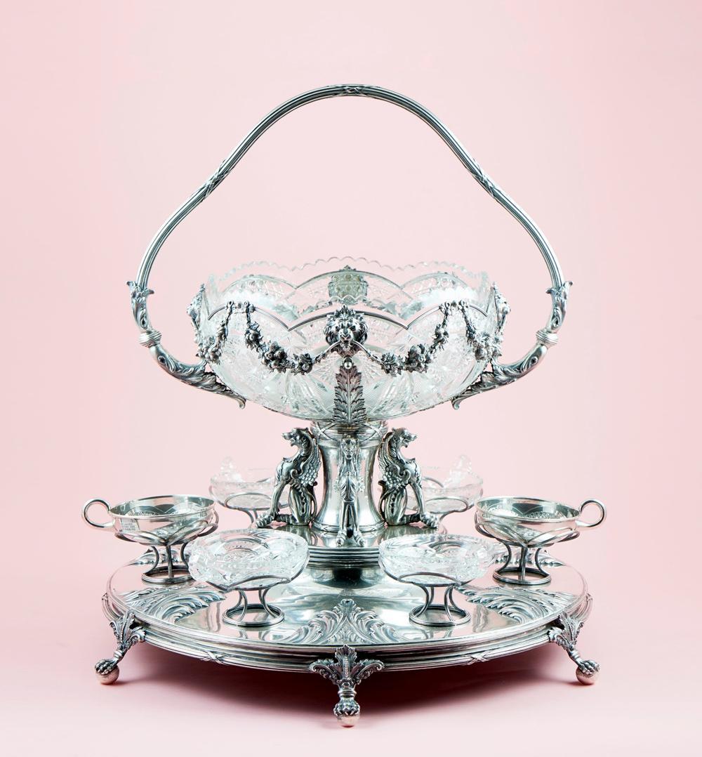 Grande poncheira em prata 833% séc. XIX/XX