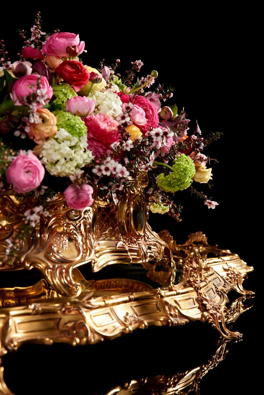 Grande centro de mesa, prata dourada 833%, P.8200g