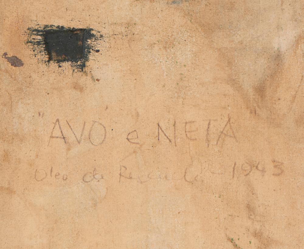 JÚLIO RESENDE, Óleo s/tela, 93,5 x 65 cm.