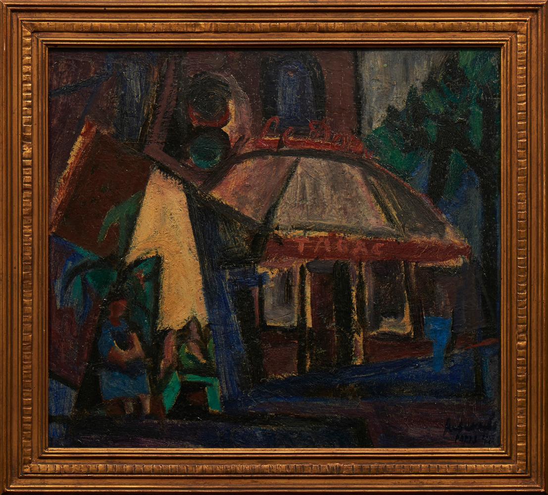 JÚLIO RESENDE, Óleo s/cartão. 38,5 x 47,5 cm.