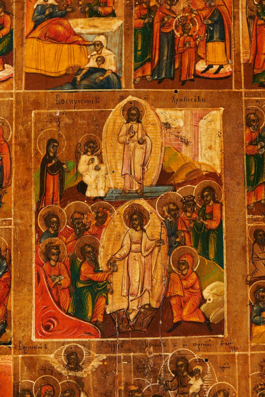 Ícone representando cenas da Vida de Cristo