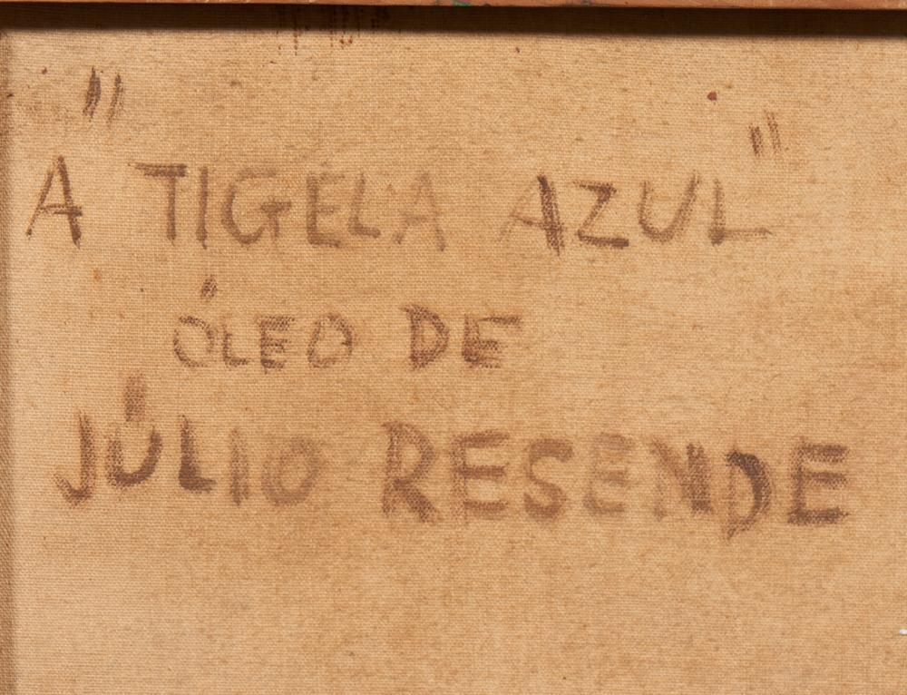 JÚLIO RESENDE, Óleo s/tela, 61 x 50 cm.