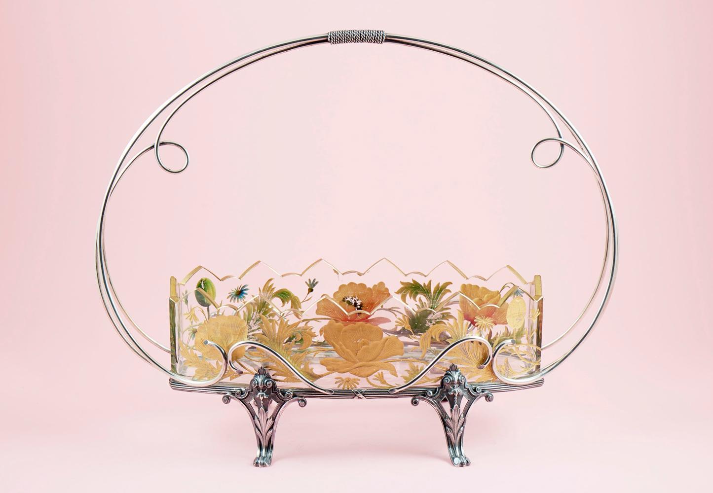 Centro de mesa floreira em prata, P.1068g